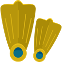 sports, swimming, Dive, Sports And Competition, Diving, fins, flippers, fashion DarkGoldenrod icon