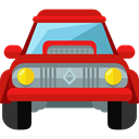 Automobile, Car, transportation, transport, vehicle Firebrick icon