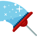 sweeping, Tools And Utensils, broom, sweep, cleaner, cleaning, miscellaneous, Clean SkyBlue icon