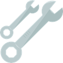 Wrench, Construction, Home Repair, Wrenches, Improvement, Construction And Tools Silver icon