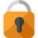 locked, Lock, secure, security, padlock, Tools And Utensils Goldenrod icon