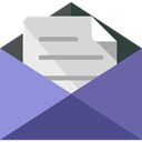 Email, interface, mails, envelopes, Communications, envelope, Multimedia, Message, mail SlateGray icon