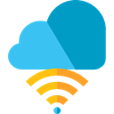 Multimedia, miscellaneous, Cloud, Wifi, wireless, technology, Cloud computing, file storage, Cloud storage, Data Storage, Wireless Connection LightSeaGreen icon