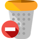 miscellaneous, Trash, interface, Basket, Bin, Garbage, Can, Tools And Utensils Silver icon