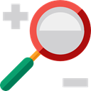 miscellaneous, detective, Loupe, Tools And Utensils, search, magnifying glass, zoom LightGray icon