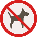 forbidden, dog, Animals, prohibition, Not Allowed, Signaling, No Pets Linen icon