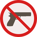 forbidden, prohibition, weapons, Not Allowed, Signaling Linen icon