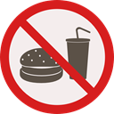 forbidden, Fast food, prohibition, Not Allowed, Signaling, Food And Restaurant Linen icon