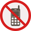 forbidden, mobile phone, prohibition, Not Allowed, Signaling Linen icon