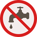 forbidden, water, prohibition, Not Allowed, Signaling Linen icon