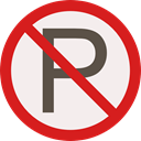 prohibition, Not Allowed, Signaling, forbidden, Parking Linen icon