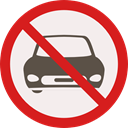 forbidden, Car, transportation, vehicle, prohibition, Not Allowed, Signaling Linen icon