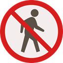people, forbidden, pedestrian, prohibition, Not Allowed, Signaling, Humanpictos Linen icon