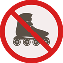 forbidden, prohibition, roller skate, Not Allowed, Signaling Linen icon