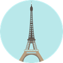 france, shapes, travel, Eiffel tower, paris, romantic, Monuments PaleTurquoise icon