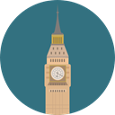 Clock, England, europe, united kingdom, uk, tower, Big ben, london, Monuments, Architectonic SeaGreen icon