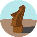 Chile, Monument, Statue, landmark, Monuments, Easter Island, Moai, Moais PaleTurquoise icon