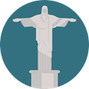 brazil, Monument, Statue, landmark, Monuments, Rio De Janeiro, Christ The Redeemer SeaGreen icon