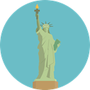America, landmark, Monuments, Statue Of Liberty, united states, Monument, New york MediumAquamarine icon