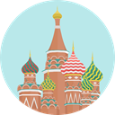 russia, Building, Monument, landmark, moscow, Monuments, Architectonic, Cathedral Of Saint Basil PaleTurquoise icon