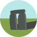 England, uk, landmark, Monuments, Stonehenge PaleTurquoise icon