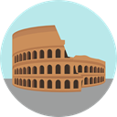 italy, shape, Antique, Architecture, roman, landmark, Monuments, Coliseum, Monumental PaleTurquoise icon