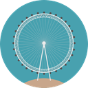 England, europe, united kingdom, Monuments, Big Wheel, London Eye, Ferris Wheel CadetBlue icon