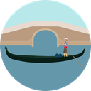 bridge, Monument, landmark, Monuments CadetBlue icon