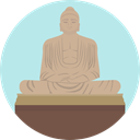 Monument, Statue, Asia, Thailand, landmark, Monuments, Great Buddha Of Thailand PaleTurquoise icon