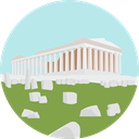 Building, Greece, Monument, landmark, Ancient, athens, Monuments, Parthenon, Architectonic PaleTurquoise icon