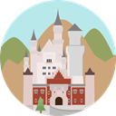 Castle, fortress, Construction, buildings, Monument, Fantasy, medieval, Monuments Icon