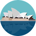 Castle, fortress, Construction, buildings, Monument, Fantasy, medieval, Monuments, Sydney Opera House MediumAquamarine icon