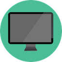 Tv, Computer, monitor, screen, television, technology, electronics CadetBlue icon