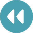 Arrows, Orientation, Music And Multimedia, interface, rewind, Direction, Multimedia Option CadetBlue icon