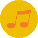 music, interface, music player, song, musical note, Quaver, Music And Multimedia Gold icon