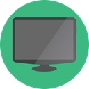 Tv, monitor, screen, television, technology, electronics MediumSeaGreen icon
