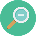 search, Loupe, Zoom out, Tools And Utensils, magnifying glass, zoom, detective, ui CadetBlue icon