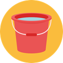 miscellaneous, Bucket, water, wash, washing SandyBrown icon