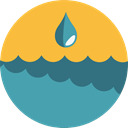 water, nature, Teardrop, raindrop, miscellaneous, weather, Rain, drop SandyBrown icon