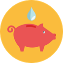 savings, funds, Business And Finance, save, Money, coin, piggy bank SandyBrown icon