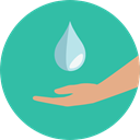miscellaneous, weather, Rain, drop, water, nature, Teardrop, raindrop LightSeaGreen icon