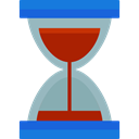 waiting, Tools And Utensils, Time And Date, Clock, time, Hourglass DarkGray icon