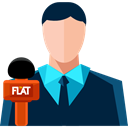user, Professions And Jobs, Avatar, job, profession, News Reporter MidnightBlue icon