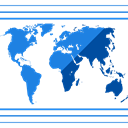 global, Geography, Maps And Location, worldwide, Communications, Maps And Flags, Planet Earth DodgerBlue icon