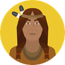 user, Avatar, traditional, Culture, Native American, Cultures Goldenrod icon