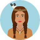 user, Avatar, traditional, Culture, Native American, Cultures LightBlue icon