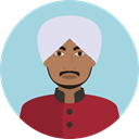 Culture, Sikh, Cultures, user, Avatar, traditional LightBlue icon