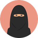 user, woman, Avatar, Arab, traditional, muslim, Culture, Cultures DarkSalmon icon
