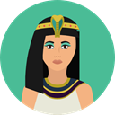 user, woman, Avatar, traditional, Culture, Egyptian, Cultures CadetBlue icon