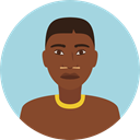 African, traditional, Culture, Cultures, user, Avatar LightBlue icon